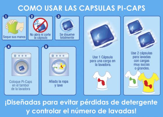 Como usar el detergente en cápsulas Picaps