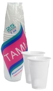 Vaso plástico traslúcido Tami 7 oz referencia 9103