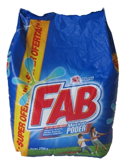 Detergente en polvo Fab 2700 g referencia 3024