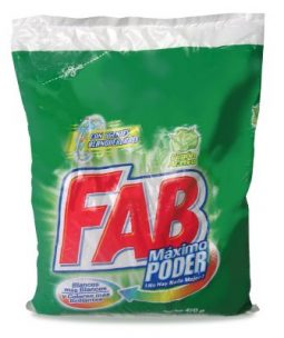 Detergente en polvo Fab Máximo poder 450 g referencia 3021