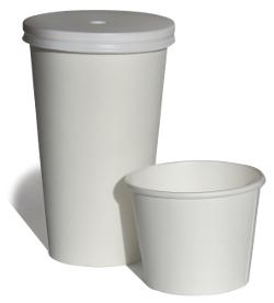 Vasos de papel carton para bebidas frias