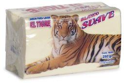 Jabón en barra blanco suave Tigre 250 g referencia 3124