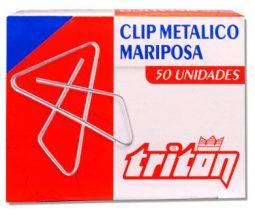 Clip metálico mariposa x 50 referencia 7408