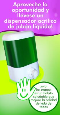 lleve un dispensador acrílico de jabón líquido