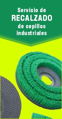 Recalzado de cepillos industriales