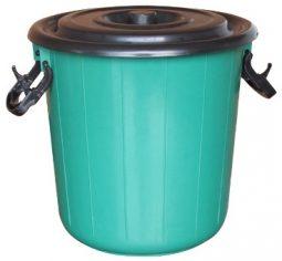 Caneca plástica 20 litros con tapa referencia 7240