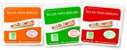 Paquete de 6 bolsas para la basura Pisolimpio