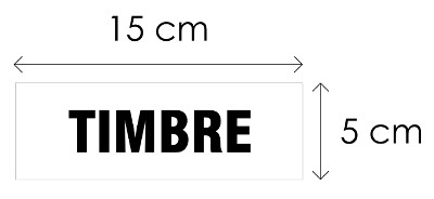 Aviso de señalización de 15 x 5 cm Referencia 7051